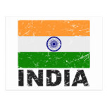 India Vintage Flag Postcards