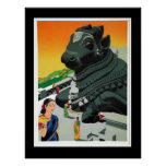 India  vintage poster Visit India