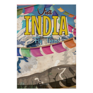 India Vintage Travel poster