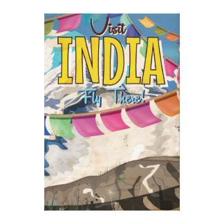 India Vintage Travel poster Canvas Print