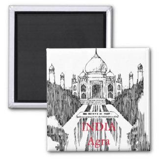 India Vintage Travel Tourism Magnet