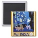 India - Vintage Travel - Visit India Refrigerator Magnet