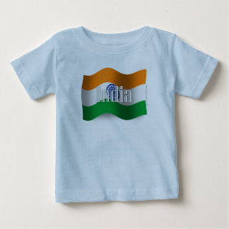 India Waving Flag Baby T-Shirt