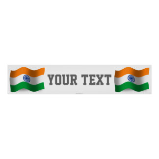India Waving Flag Banner Poster