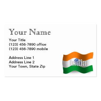 India Waving Flag Business Card Templates