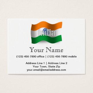 India Waving Flag Business Card