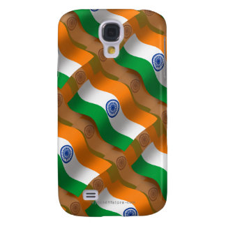 India Waving Flag Galaxy S4 Covers