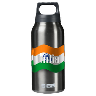 India Waving Flag Insulated Water Bottle