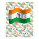 India Waving Flag Invite