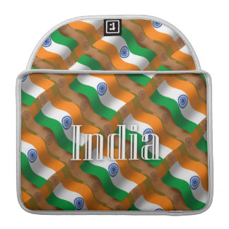 India Waving Flag Sleeve For MacBook Pro