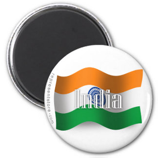 India Waving Flag Magnet