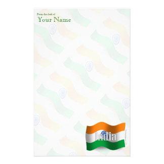 India Waving Flag Stationery