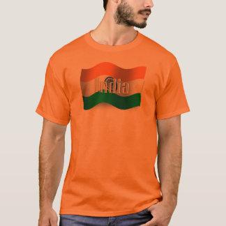 India Waving Flag T-Shirt