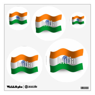 India Waving Flag Wall Sticker