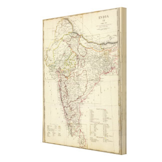 India XII Index map Canvas Print