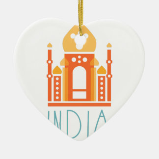 India yoga ceramic ornament