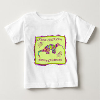 Indian Aardvark Quilt Baby T-Shirt