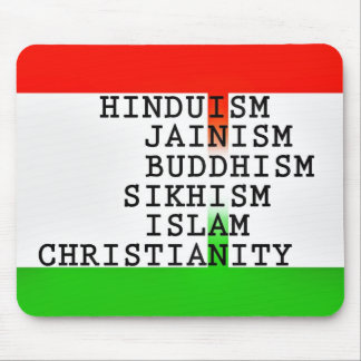 Indian (all religions) mouse pad