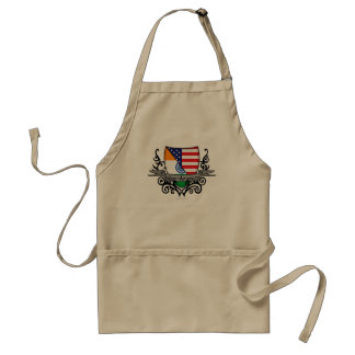 Indian-American Shield Flag Adult Apron