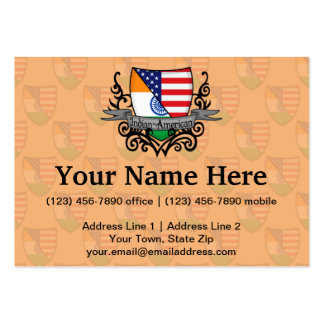 Indian-American Shield Flag Business Card
