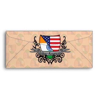 Indian-American Shield Flag Envelope