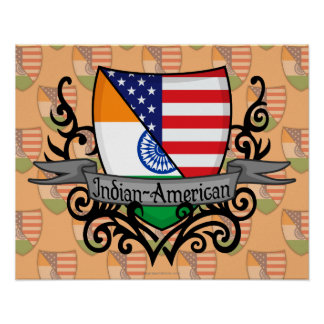 Indian-American Shield Flag Posters