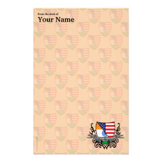Indian-American Shield Flag Stationery