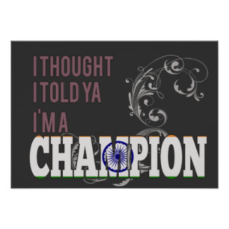 Indian and a Champion Print