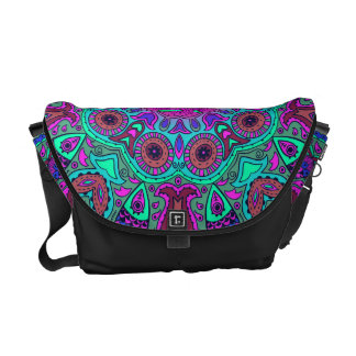 Indian and Chinese Happiness Mandala Messenger Bag