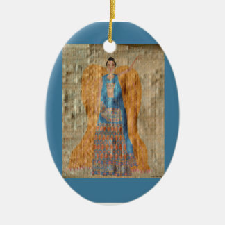 Indian Angel Ornament - Ceramic Oval