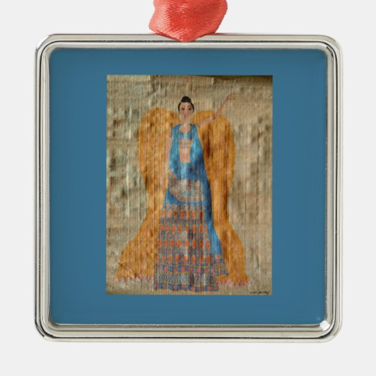 Indian Angel Ornament - Premium Square