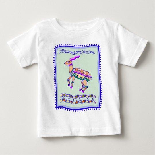 Indian Antelope Quilt Baby T-Shirt