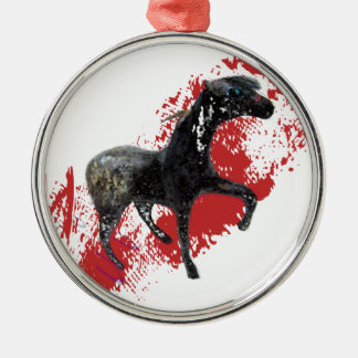 Indian Appaloosa Gifts and apparel Metal Ornament