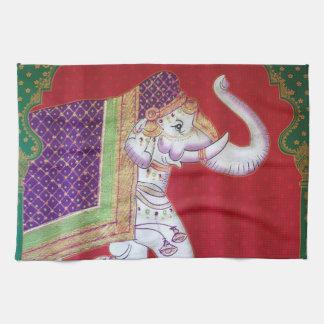 Indian art elephant kitchen towel