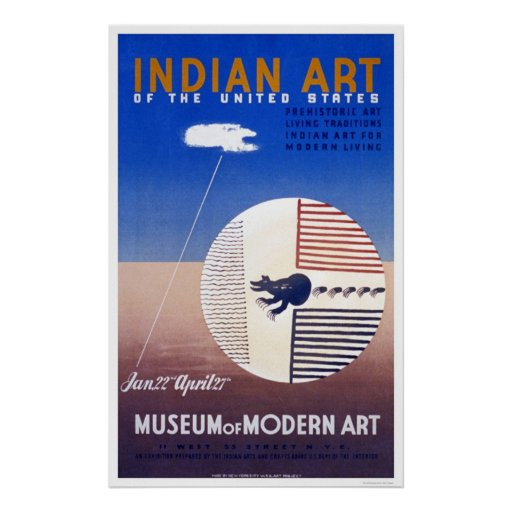 Indian Art In America 1936 WPA Poster