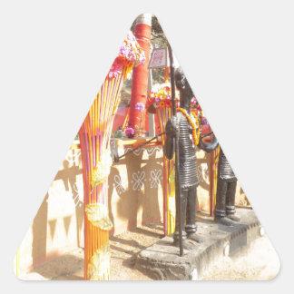 Indian art n crafts show surajkund mela newdelhi triangle sticker
