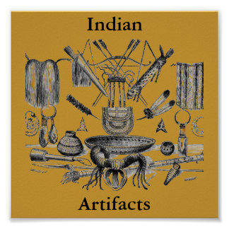 Indian Artifacts Poster