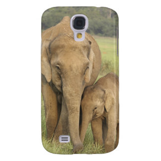 Indian / Asian Elephant and young one,Corbett Galaxy S4 Cover