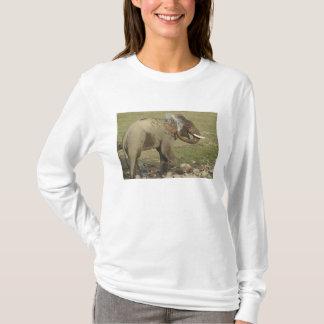 Indian / Asian Elephant spraying water,Corbett T-Shirt