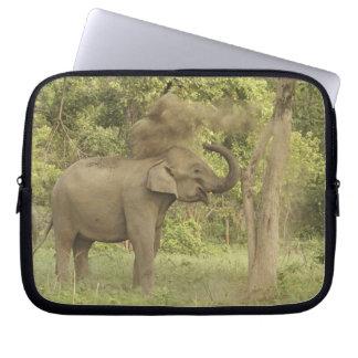 Indian / Asian Elephant taking dust bath,Corbett Computer Sleeves