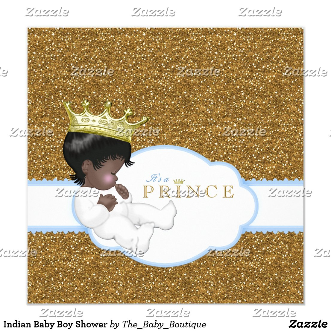 Indian Baby Boy Shower Card