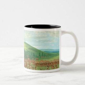 Indian Ball Game Two-Tone Coffee Mug
