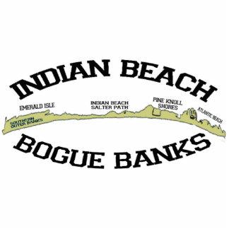 Indian Beach. Photo Sculpture Button
