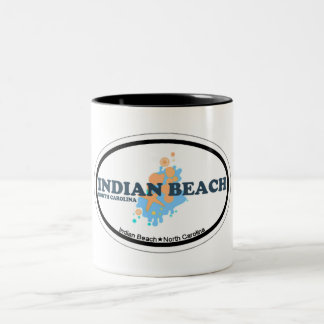 Indian Beach. Two-Tone Coffee Mug