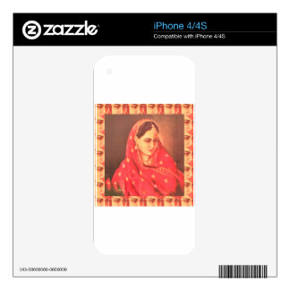 Indian beauty bride girl female woman goddess gift iPhone 4S skin