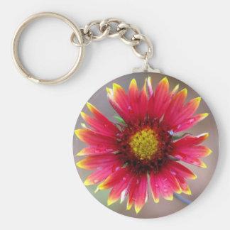 Indian Blanket Flower Keychain