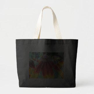 Indian Blanket Flower Totebag, Black Canvas Bag