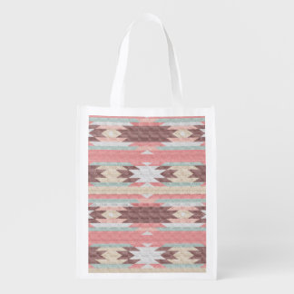 INDIAN BLANKET REUSABLE GROCERY BAG