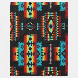 INDIAN BLANKET (Simulated) Fleece Blankets
