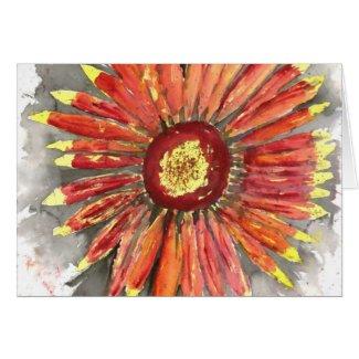 indian blanket wildflower watercolor painting card